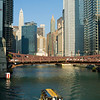 Tour boat on the Chicago River