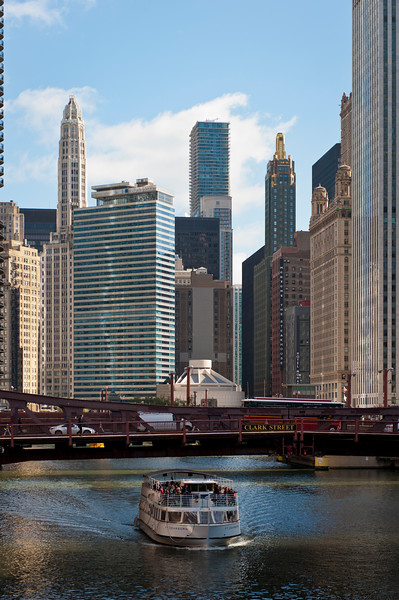 The Chicago River with Clark Street Bridge