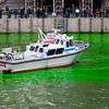 The Chicago River is dyed green as part of the annual Saint Patrick's Day Celebration