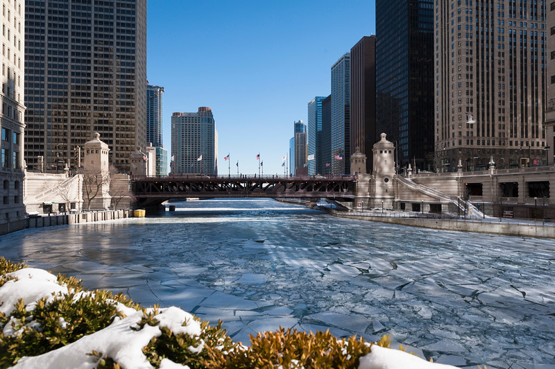 Chicago River, winter