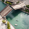 Chicago River Wabash Aveneue bridge lift fall autumn riverwalk restaurant O'Briens Riverwalk Cafe sailboat