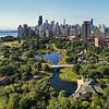 Aerial South Pond Lincoln Park