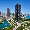 Chicago skyline from AeroBalloon