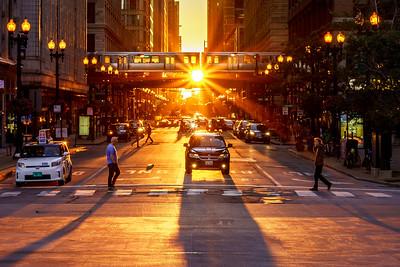 Sun Train Set Crossing