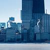 Chicago skyline view in winter