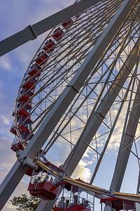 Waiting to ride the Ferris Wheel