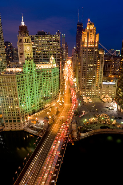 Aerial of Chicago's Magnificent Mile