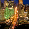 Aerial of Chicago's Magnificent Mile