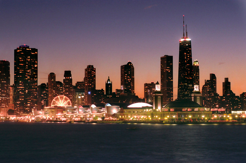 Chicago Skyline with Navy Pier