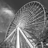 Ferris Wheel at Navy Pier Black and White