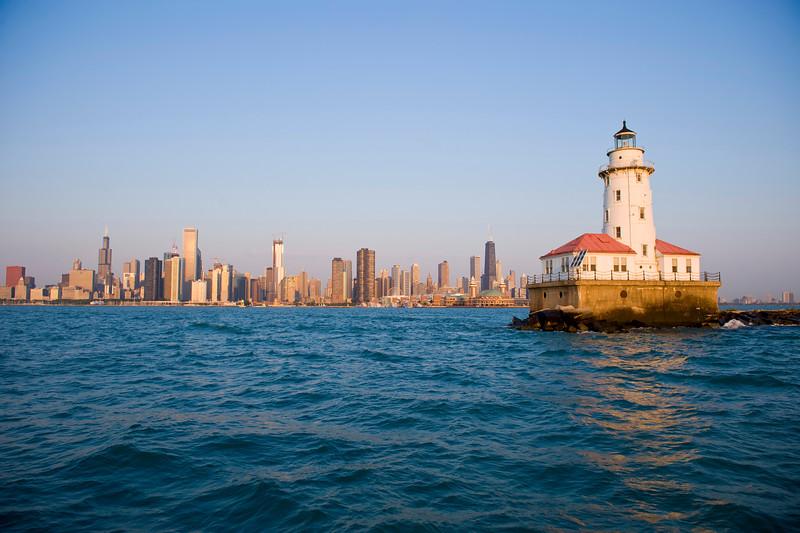 Chicago skyline from harbor