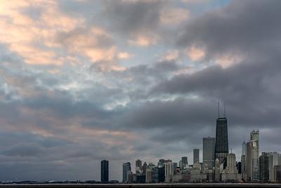 North Shore Skyline and Winter Sky
