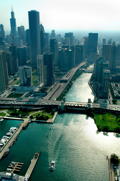 Aerial of Chicago River