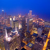 Aerial of Sears Tower and other buildings in Chicago