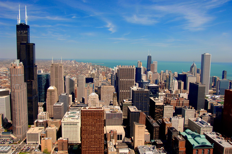 Aerial of Chicago Downtown