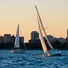 Sailboats on Lake Michigan