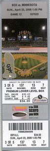 2006-4-23 SOX vs Minnesota - Game 12