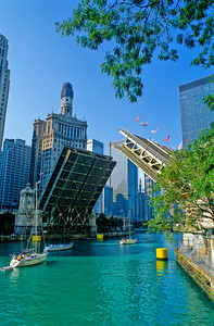 Chicago River at Michigan Avenue Bridge