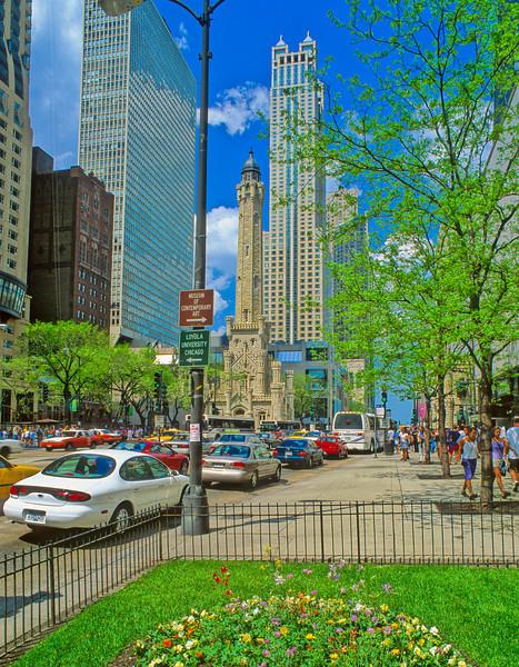 Michigan Avenue in spring