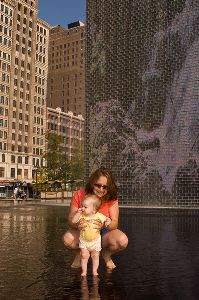 The Crown Fountain at Millenium Park