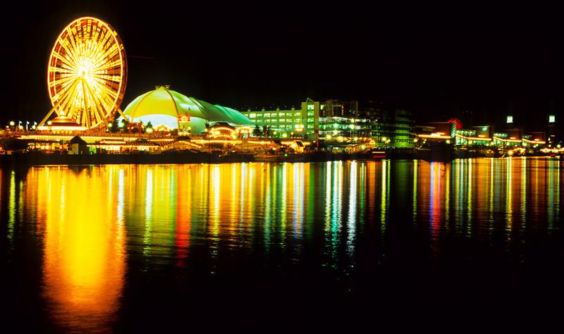 Navy Pier at night