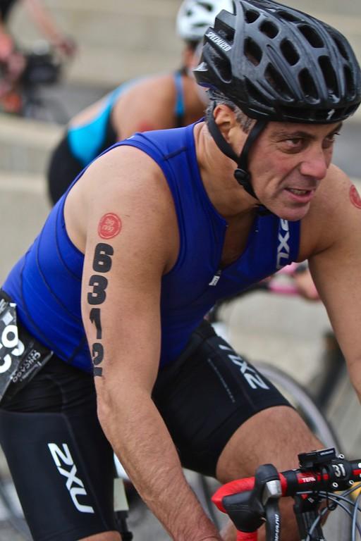 Rahm Emanuel at 2015 Chicago Triathlon
