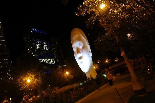 Millenium Park Sculpture by Jaume Plensa Chicago ©LesleyDonald