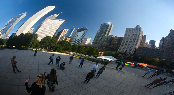 Reflections at Millenium Park Chicago USA
