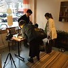 Shoppers at the quarterly pop-up market - The Storefront East
