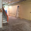The Loft and Long Hall after demo of wall