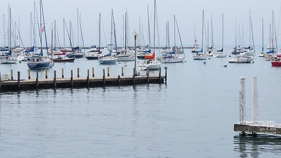 Lakefront at Monroe Harbor July 4