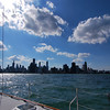 On our way back to the dock... a nice view of the Chicago skyline!