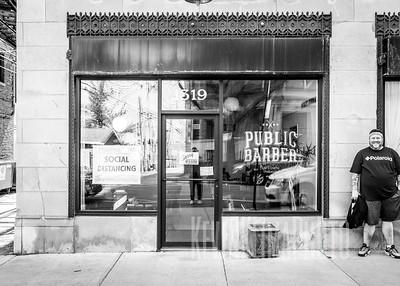 Public Barber Social Distancing
