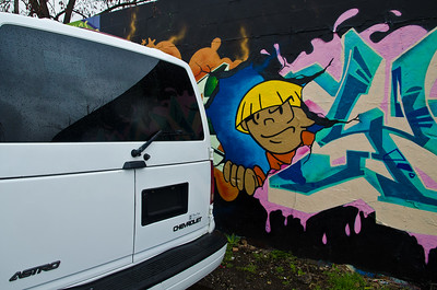 Stay away from the van, kid!