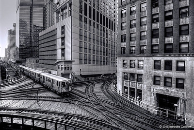 L Train Intersection at Lake & LaSalle Streets