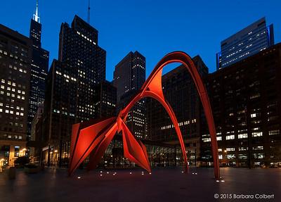 """Alexander Calder's """"Flamingo"""""""