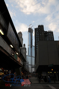 Trump Tower rising.  From Wabash & Randolph.  August 2008