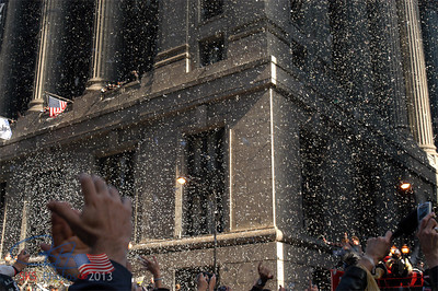 Clapping hands, ticker-tape and City Hall.  10-28-05