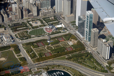 Millenium Park from the air, 9/28/07