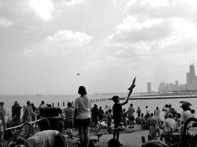 Mine plane is bigger than yours, Chicago Air and Water Show 2003