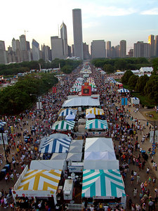 View of the Taste of Chicago from the Ferris Wheel, 2004