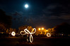 Moon, Fire, Starbursts