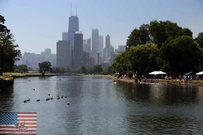 Chicago Sprints.  Rowing regatta in Lincoln Park.  July 2011