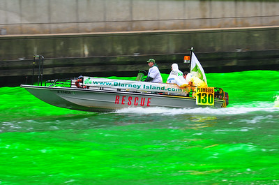 Turning the Chicago River green / March 13, 2010