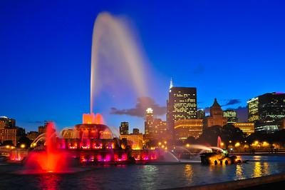 Buckingham Fountain's Blue Hour