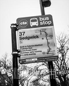 37 - Sedgwick - CTA Bus Stop