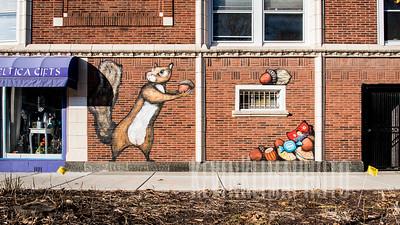 Ravenswood Squirrel Mural