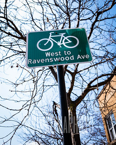 West to Ravenswood Ave