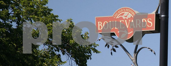 Boulevards sign on Kedzie Blvd