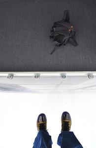 Shoes, Fog, and a Camera Bag